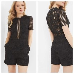 Ted Baker Daycee Guipure Lace Romper
